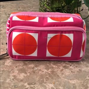 Trina pink double zipper makeup bag